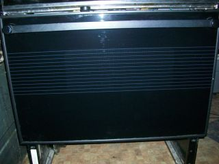 JENN AIR ELECTRIC RANGE BLACK GLASS OVEN DOOR WITH A NICE SEAL. MODEL