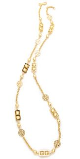 Tory Burch Framed Ball Necklace