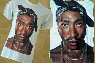 Tupac 2Pac White Retro T Shirt Jay Z Wu Tang s M L XL