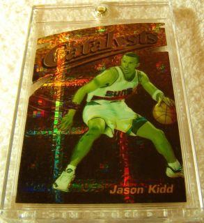 JASON KIDD 1997 98 FINEST GOLD EMBOSSED DIE CUT ATOMIC REFRACTOR