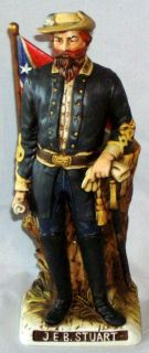 Vintage McCormick Porcelain JEB Stuart Whiskey Decanter, Civil War