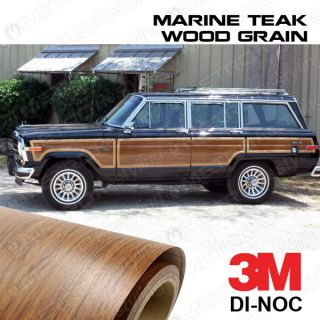 Jeep Grand Wagoneer Wood Grain Vinyl Replacement Sheet