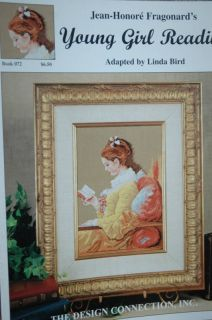 Young Girl Reading Cross Stitch Jean Honore Fragonard