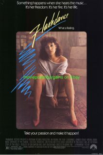 Flashdance Movie Poster 27x40 Jennifer Beals not A Fake