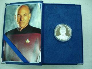 Star Trek Captain Jean Luc Picard 1oz Silver Proof Coin
