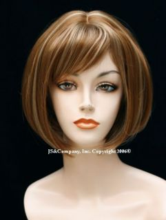 Sophisticated Straight Bob Strawberry Blonde mix WIG WADE 27 613