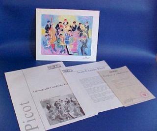 Jean Claude Picot Le Sacre Du Printemps Seriolithograph Print 2003
