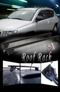 Jeep Compass 2007 2010 Black Aluminum Roof Top Rail Cross Bars Rack