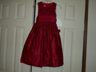 Cinderella Ruby Red Girls Formal Wedding Pageant Christmas Dress Sz 5