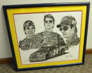 Jeff Gordon NASCAR Champion Painting Robert Stephen Simon