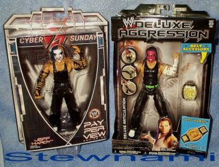 Deluxe Aggression PPV Jeff Hardy 2 Wrestling Action Figure Lot