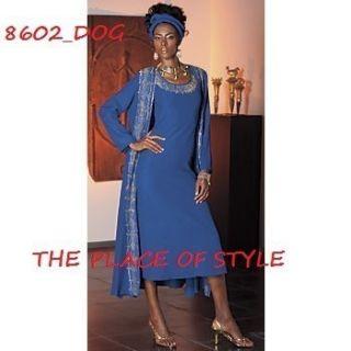 Couture Original Ashro Jendayi Jacket Dress Royal Gold Size XXL