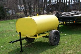 Mobile Diesel Fuel Tank Trailer 275 Gallon Auxilliary