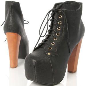 jeffrey campbell lita spike leather platform boots heels spikes. Black Bedroom Furniture Sets. Home Design Ideas