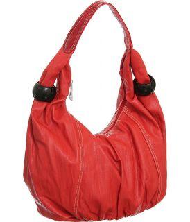 Bright Red Large Big Jennie Hobo Designer L S