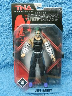 NEW JAKKS TNA JEFF HARDY DELUXE IMPACT FIGURE SERIES 4 BLACK AND WHITE