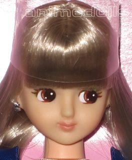 Takara Licca Castle Jenny Friend Meilin Doll Long Curly Silver Hair