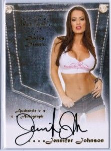 Jennifer Johnson 2012 Benchwarmer Daizy Dukez Auto Signature 13 Hot