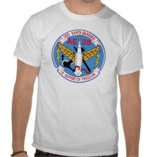AE 28 USS Santa Barbara Ammunition Ship Military P Tee Shirts