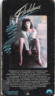 Flashdance VHS Jennifer Beals Michael Nouri Lilia Skala
