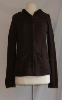 Anthropologie wool cashmere angora sweater medium cardigan brown Snak