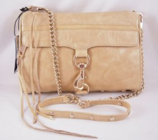Rebecca Minkoff Mac Clutch in Bone with Light Gold Hardware