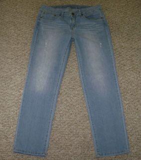 JLO Jennifer Lopez Boyfriend Stretch Distressed Jeans Size 8