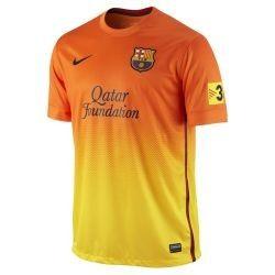Barcelona Season 2012 2013 Away Soccer Jersey Orange/Yellow Brand New