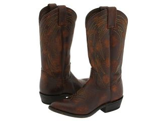Frye Billy Pull on Leather Brown Cowboy Boots 11 New
