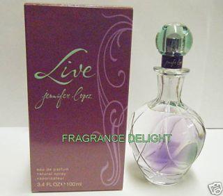 Live by Jennifer Lopez Women Perfume 3 4 oz 100ml N I B 101234303216