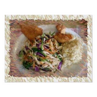 Rainbow Chicken Chinese Dinner Plate is Customizable! Add Your Own