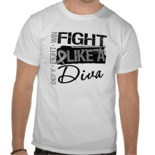Brain Cancer   Fight Like a Diva T shirts