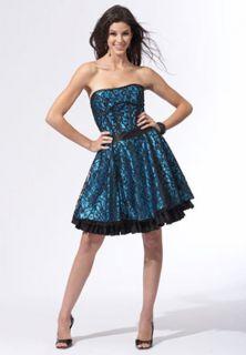 Jessica McClintock Lace Corset Short Dress Gown Size 7