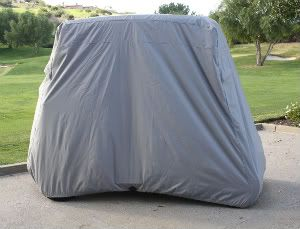 Golf Cart Storage Cover Fit EZ Go Club Car Yamaha Cart Grey
