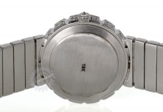 Manart Fine Jewelry Round 18K White Gold Diamond Watch
