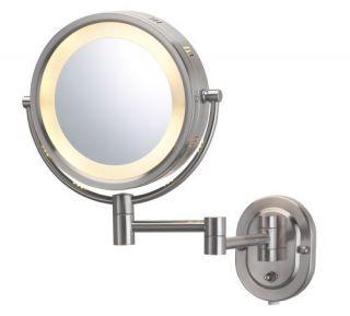 Jerdon Jerdon Eclipse 8 Lighted Wall Mount Mirror Makeup 5X 1x