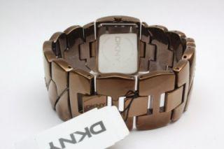 New DKNY Women Pearl Dial Crystal Watch  Minor Scratch  23mm x 33mm