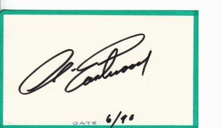 Clint Eastwood Actor Autograph Hand Signed Index Card A913