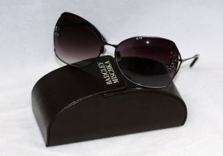 Beautiful Badgley Mischka Garbo Jet Black Sunglasses Auth