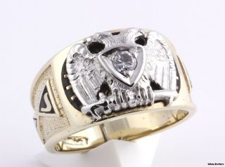 32nd Degree Scottish Rite Masonic Band 10K Gold Ring Sz 10 9 9g