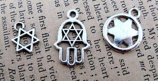 Jewish Kabbalah Hebrew Israel Silver Charm Pendant Jewelry Mystic