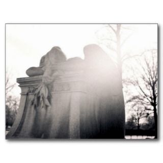 heavenly weeping angel postcard