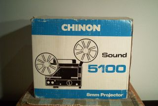 Chinon 5100 Super 8 Sound Projector w Box