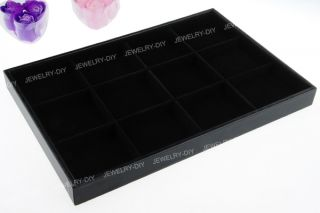 Jewelry Black Velvet Display Box Tray Case 14x9x1 2 Chic