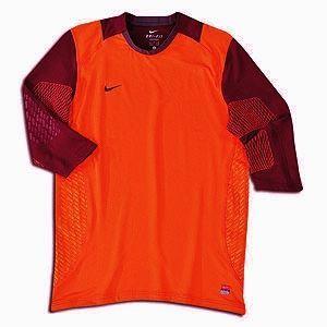 Confidence 3 4 Sleeve Orange Soccer GK Goalkeeper Shirt Jersey