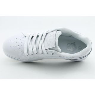 Top Mens Sz 8 White White New Leather Athletic Sneakers Shoes