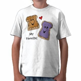 Personalized Peanut Butter Jelly Cartoon T Shirt