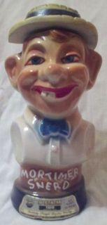 1976 Mortimer Snerd Jim Beam Collectible Decanter Vintage