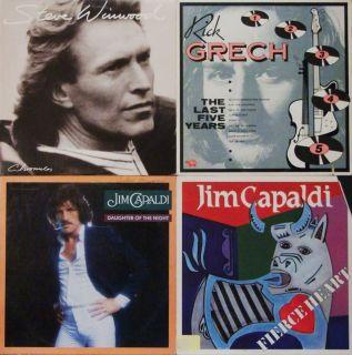 WINWOOD CHRONICLES RICK GRECH JIM CAPPALDI WHITE LBL 4 LPs TRAFFIC