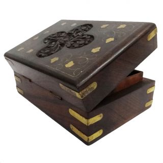 Vintage Style Small Wooden Jewelry Wood Box Storage Wood Trunk SWB27